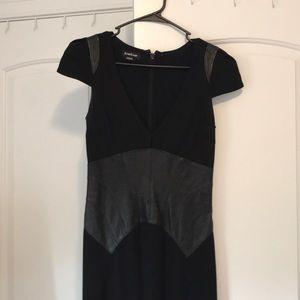 Bebe Leather Detailed dress